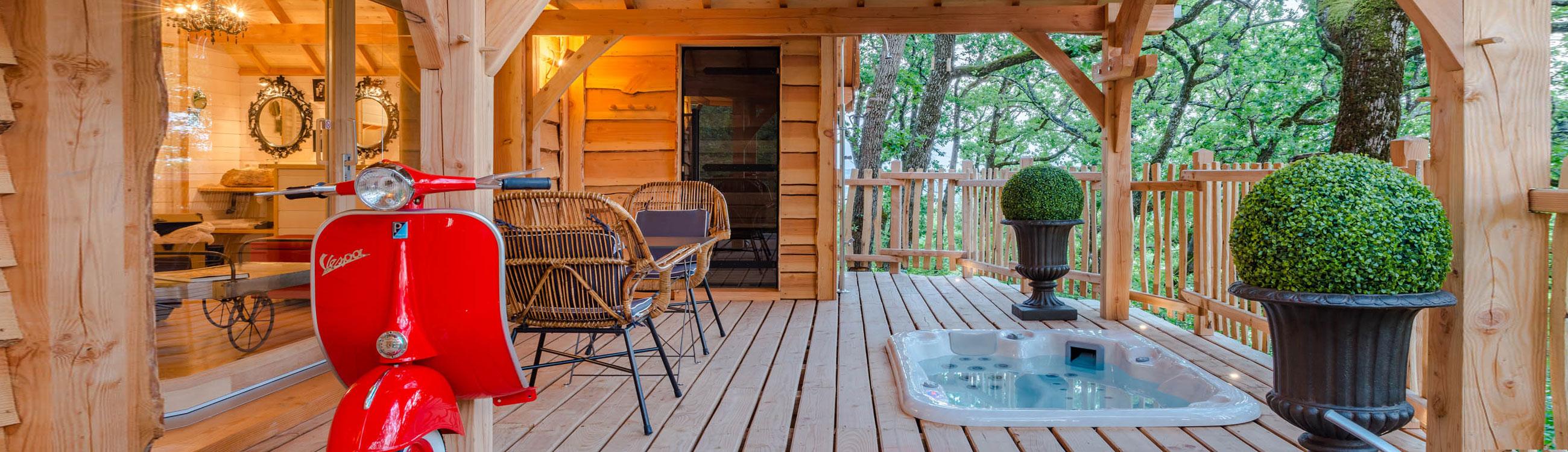 cabane spa dans les arbres lot et garonne. Black Bedroom Furniture Sets. Home Design Ideas